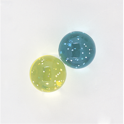GLITTER BOUNCE BALLS ASSORTED COLOURS - PACK OF 12