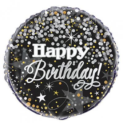 "Glittering Birthday FOIL  BALLOON 18"" - pack of 1"