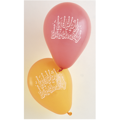 HAPPY BIRTHDAY BALLOONS ASSORTED COLORS - Pack of 15