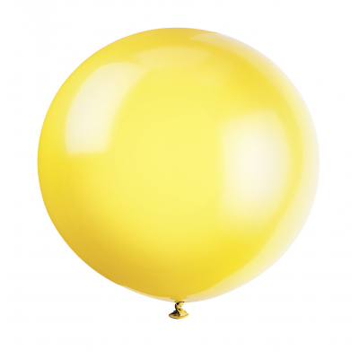 "LEMON   YELLOW    PREMIUM   BALLOONS 36"" inch - pack of  6"