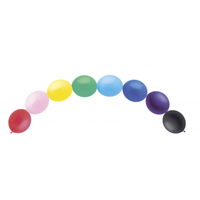 LINKING BALLOONS ASSORTED COLOURS - Pack of 15