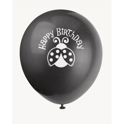 "LIVELY  LADYBUGS12""  BALLOONS  PRINTED 1 SIDE"