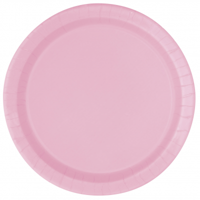 "LOVELY PINK 7"" ROUND paper PLATES - Pack of 8"