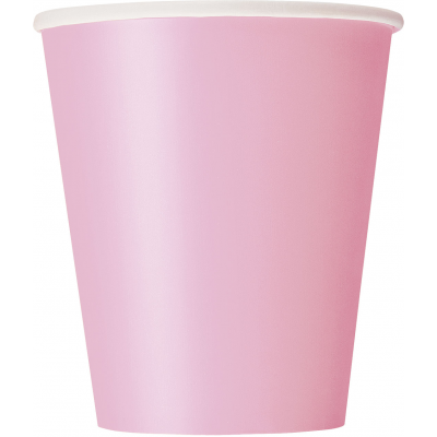 LOVELY PINK 9oz Paper CUPS - Pack of 14