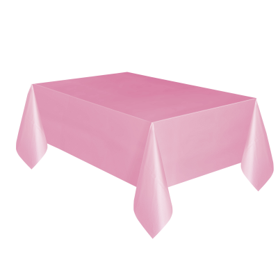 "LOVELY PINK  PLASTIC TABLECOVERS 54"" x 108"""