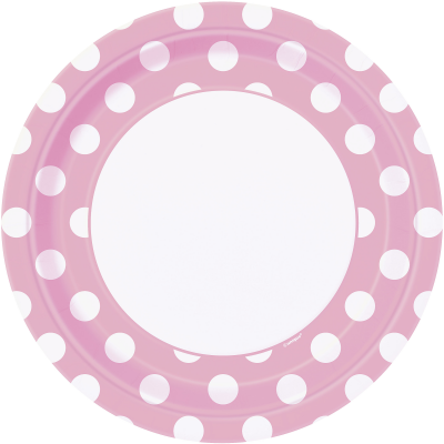 "LOVELY PINK POLKA DOTS  9""  Paper Plates - Pack of 8"