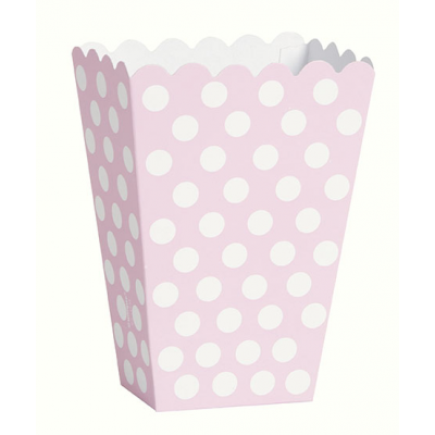 Lovely Pink Polka Dots Scalloped Treat Boxes (8pk)