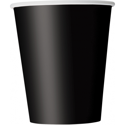 MIDNIGHT BLACK 9 OZ paper CUPS - Pack of 8