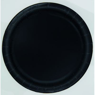 "MIDNIGHT BLACK 9"" ROUND Paper PLATES - Pack of 16"