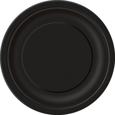 "MIDNIGHT BLACK 9"" ROUND paper PLATES - Pack of 8"