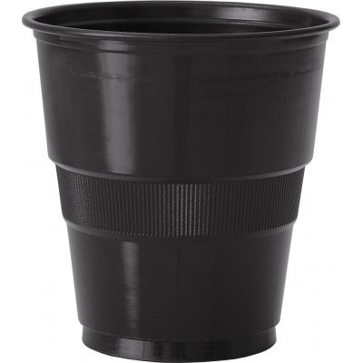 MIDNIGHT BLACK 9OZ. PLASTIC CUPS - pack of 12