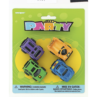 MINI DIE CAST CARS ASSORTED DESIGNS - PACK OF 4