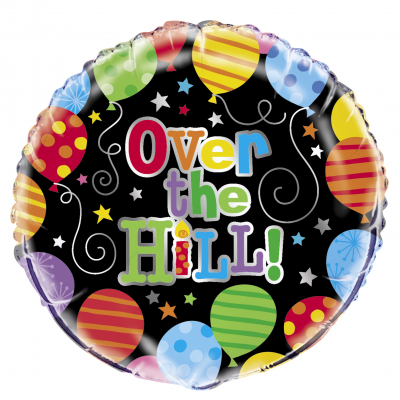 "OVER THE HILL BALLOONS 18"" FOIL BALLOON"