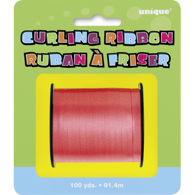 RED colour CURLING RIBBON ROLLS  100 YDS