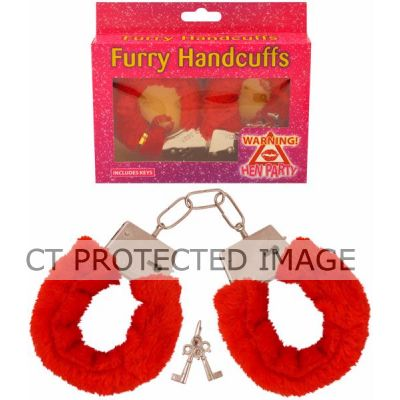 Red Fur Handcuffs