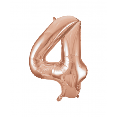 Rose Gold Foil Balloon Number 4 - 34""