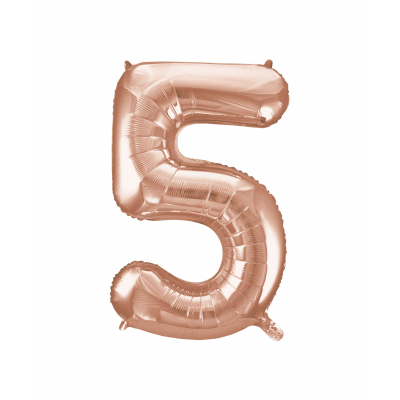 Rose Gold Foil Balloon Number 5 - 34""