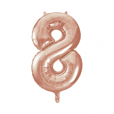 Rose Gold Foil Balloon Number 8 - 34""