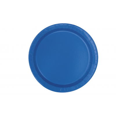 "ROYAL BLUE 9"" ROUND PLATES - Pack of 16"