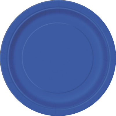 "ROYAL BLUE 9"" ROUND PLATES - Pack of 8"