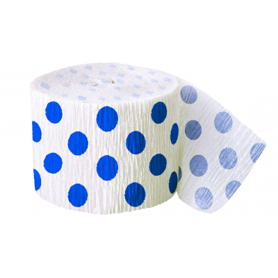 ROYAL BLUE DOTS Crepe Steamers
