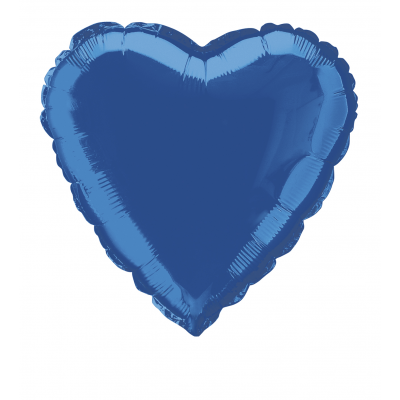 "Royal blue Heart Shape Foil balloon 18"" inch"