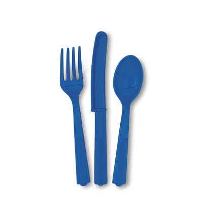 ROYAL BLUE PLASTIC CUTLERY  ASSORTED
