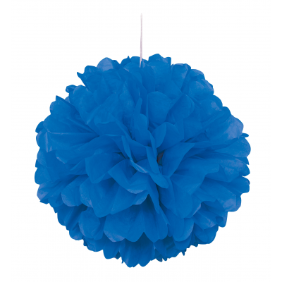 ROYAL BLUE PUFF DÉCOR