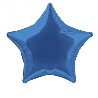 "Royal Blue Star  Shaped Foil Balloon 20""inch"