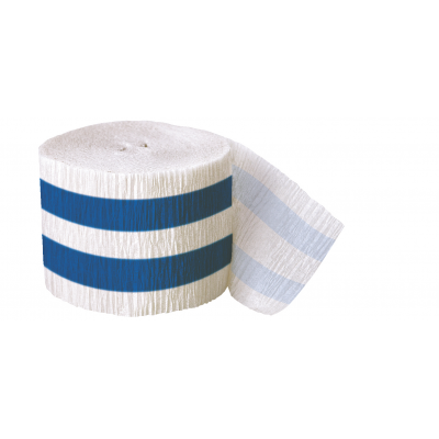 ROYAL BLUE STRIPES Crepe Steamer