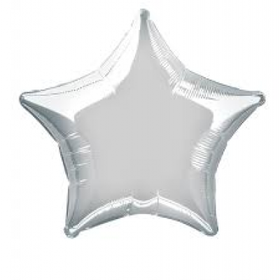 "Silver Color Star Shaped Foil balloon 20"" inch"