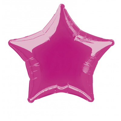 SOLID  HOT PINK  COLOUR SHAPED FOIL BALLOONS