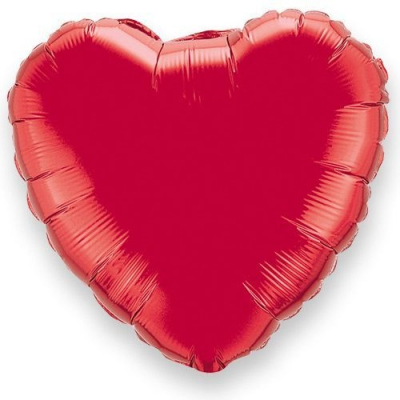 SOLID RED COLOUR SHAPED FOIL BALLOONS