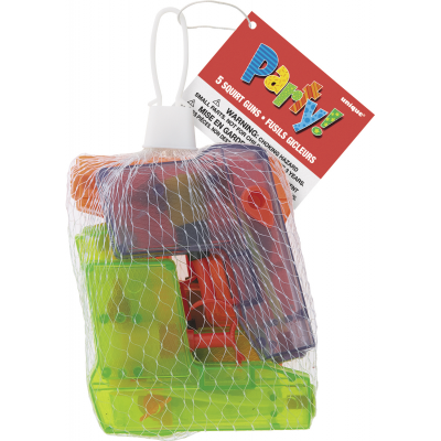 SQUIRT GUNS - PACK OF 5