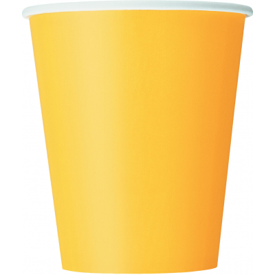 Sunflower Yellow 9oz Paper Cups - Pack of 14