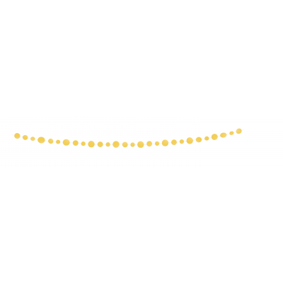 Sunflower Yellow Dots Paper Honeycomb Garland