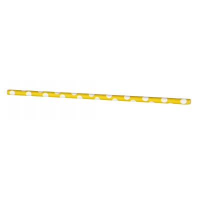 Sunflower Yellow Dots Paper Straws -  Pack Of 10