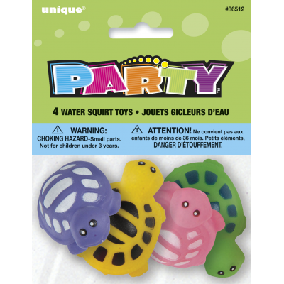 TURTLE WATER SQUIRT TOYS - PACK OF 4