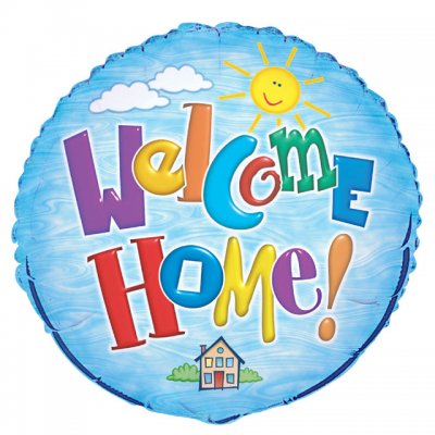 "WELCOME HOME 18"" FOIL BALLOON"