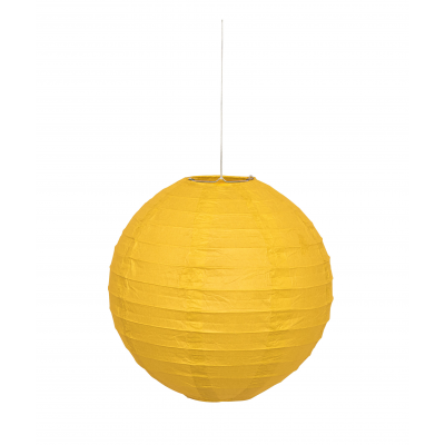 Yellow Hanging Round Paper Lanterns